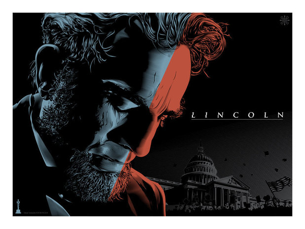 Oscar Best Picture Posters: Lincoln by artist Jeff Boyes.