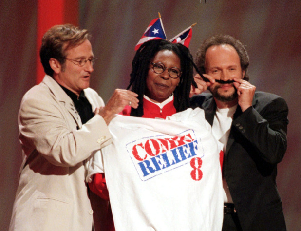 Robin Williams, Whoopi Goldberg, Billy Crystal, Comic Relief
