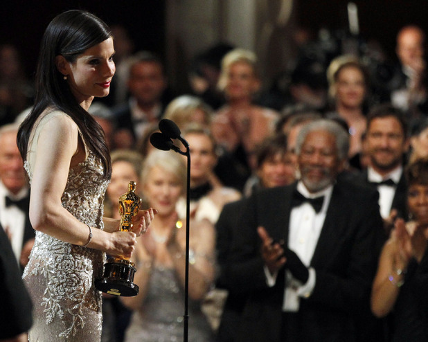 Sandra Bullock accepts her Oscar for 'The Blind Side' at the 2010 Academy Awards