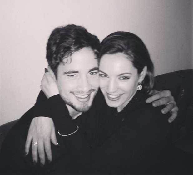 Kelly Brook Instagram photo of herself and Danny Cipriani