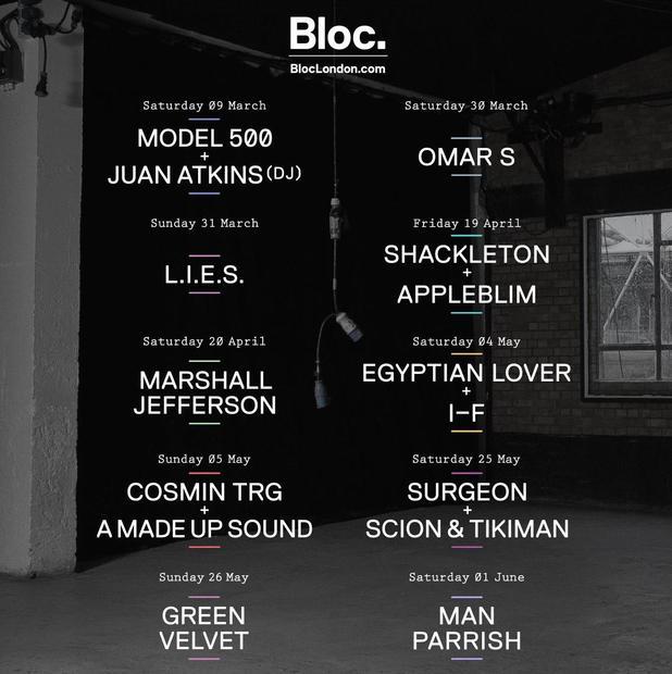 Bloc London 2013 lineup
