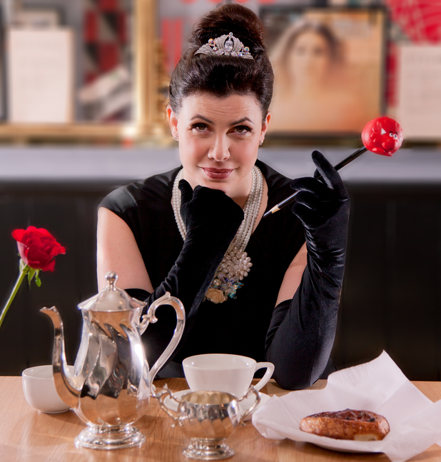 Menu Relief for Kirstie Allsopp as she 'Breakfasts at Tiffany's' for Comic Relief