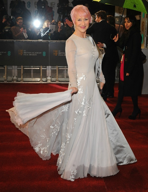 Helen Mirren arriving for the 2013 British Academy Film Awards at the Royal Opera House, Bow Street, London.