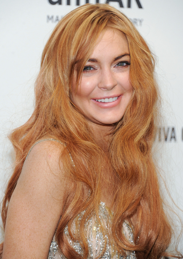 Lindsay Lohan, amfAR's New York gala at Cipriani Wall Street