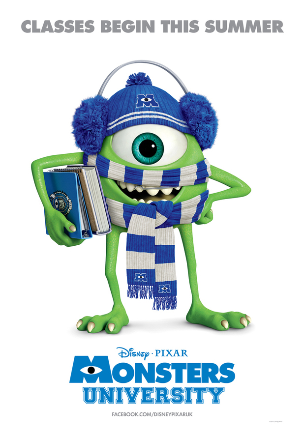 'Monsters University' Mike Wazowski-themed poster