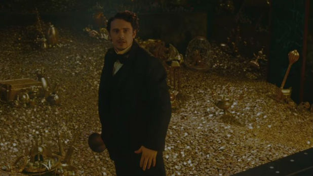James Franco heads down the Yellow Brick Road in the Super Bowl trailer for 'Oz the Great and Powerful'.