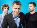 "Aussie comic Adam Hills calls Rivers an ""enormous, hypocritical, insensitive old d**k""."