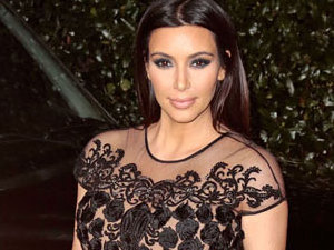 Composite: Kim Kardashian at the Topshop Party in Los Angeles on 13 February