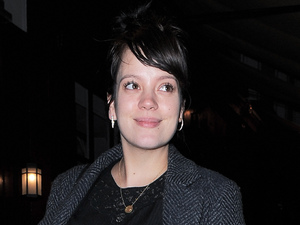 Lily Allen leaving Lou Lou&#39;s in Mayfair after a night out. Lily gave birth to her second child Marnie in January (2013)