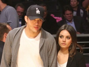 Celebrities watch the LA Lakers vs. Phoenix Suns at the Staples CenterFeaturing: Mila Kunis,Ashton Kutcher Where: Los Angeles, California, United States When: 12 Feb 2013 Credit: WENN.com