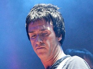 Johnny Marr performs with The Cribs at the 2008 NME Awards