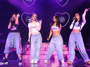 Little Mix perform live at the Wolverhampton Civic Hall during their first UK tour