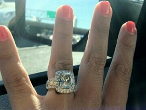 Tierra LiCausi showing off engagement ring.