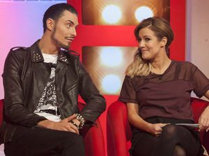 Rylan Clark and Caroline Flack appear on This Morning
