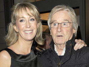 Bill Roache with Emma Jesson at the Generation Pop Gallery in Manchester, 2011