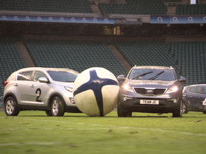 Top Gear car rugby game.