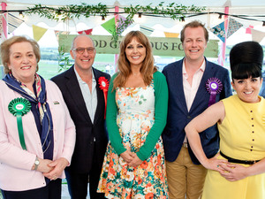Food Glorious Food: Judges Anne Harrison, Loyd Grossman, Tom Parker Bowles and Stacie Stewart with presenter Carol Vorderman