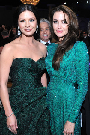 Catherine Zeta Jones, Angelina Jolie, Michael Douglas, Golden Globes 2011