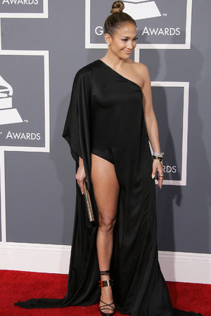 55th Annual GRAMMY Awards - Arrivals held at Staples Center Featuring: Jennifer Lopez Where: Los Angeles, California, United States When: 10 Feb 2013