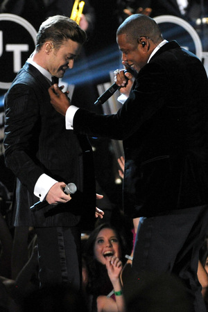 Justin Timberlake and Jay-Z collaborate at the Grammys