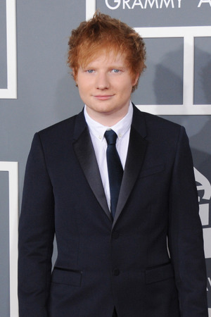Grammy Awards 2013 red carpet: Ed Sheeran