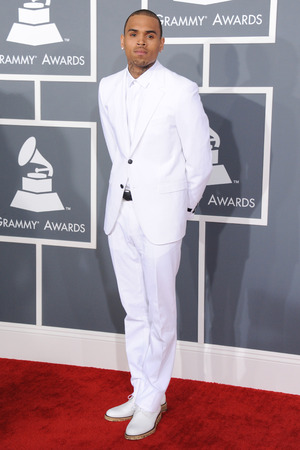 Chris Brown arrives at the Grammys