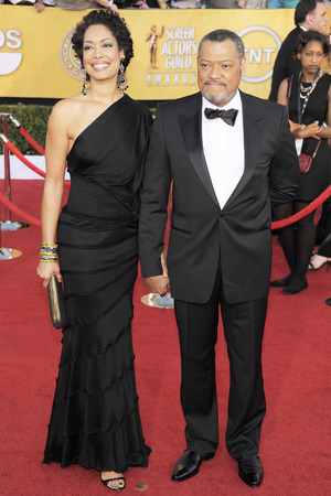 Gina Torres and Laurence Fishburne at the 2012 Screen Actors Guild Awards
