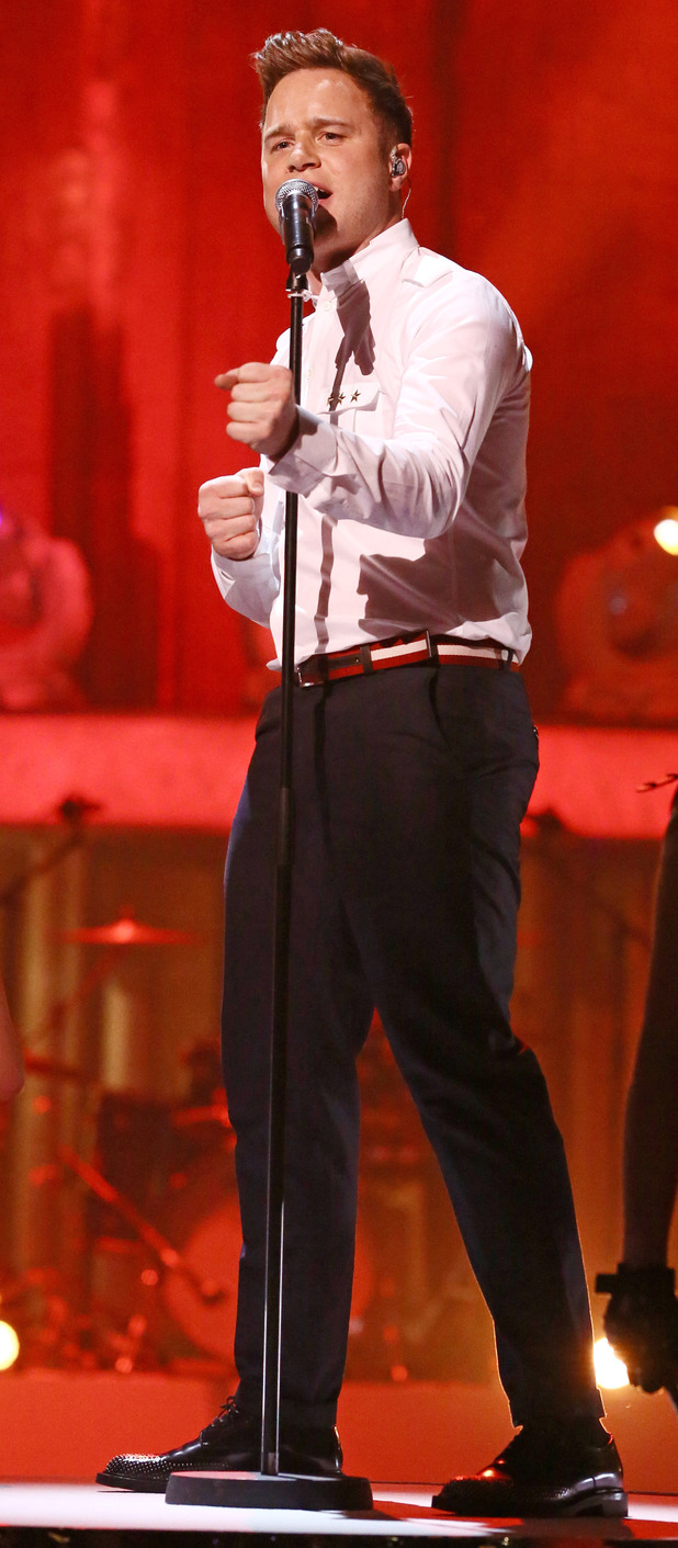 Dancing on Ice: Olly Murs performs.