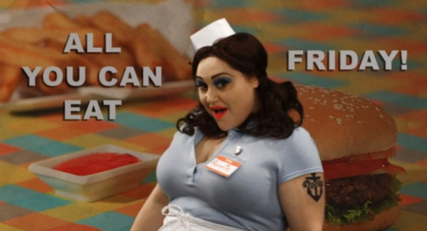 Gossip in 'Get A Job' music video.