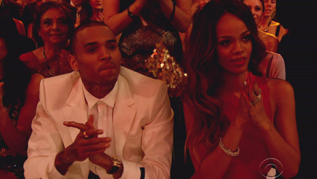 Rihanna and Chris Brown at the Grammy Awards, LA, 10 February 2013