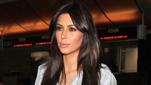 Kim Kardashian seen arrives at LAX Airport.