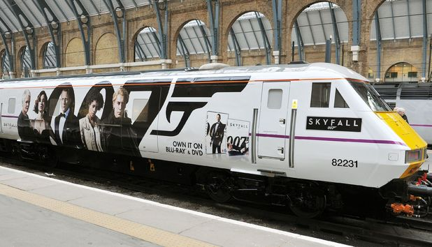 The Skyfall train prepares to leave for Edinburgh.