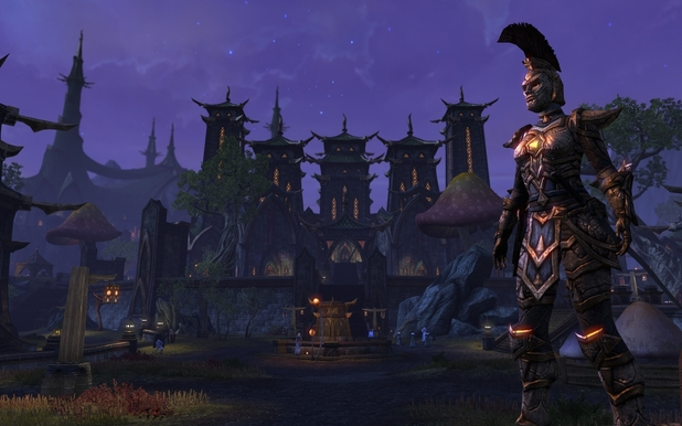 Mournhold at night