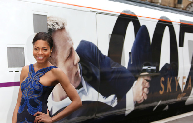 Naomie Harris promotes the Skyfall DVD launch.