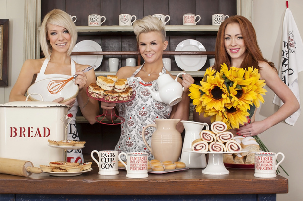 Atomic Kitten strip off for Comic Relief 'Tea Party With A Twist'