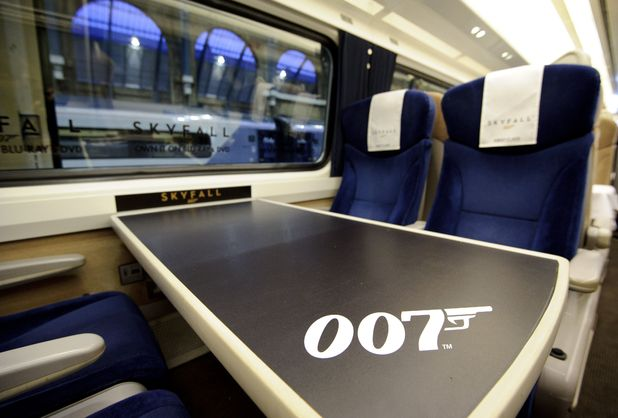 The 007 themed seats.