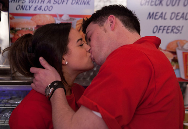 Katy Armstrong and Ryan Connor kiss