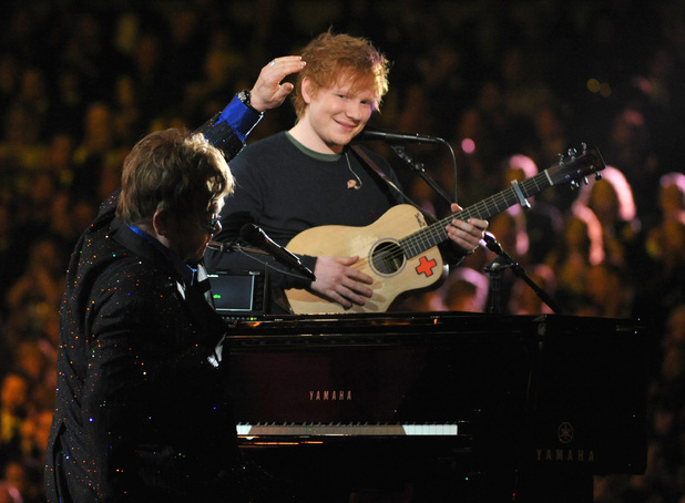 Grammy Awards 2013: Elton John and Ed Sheeran duet