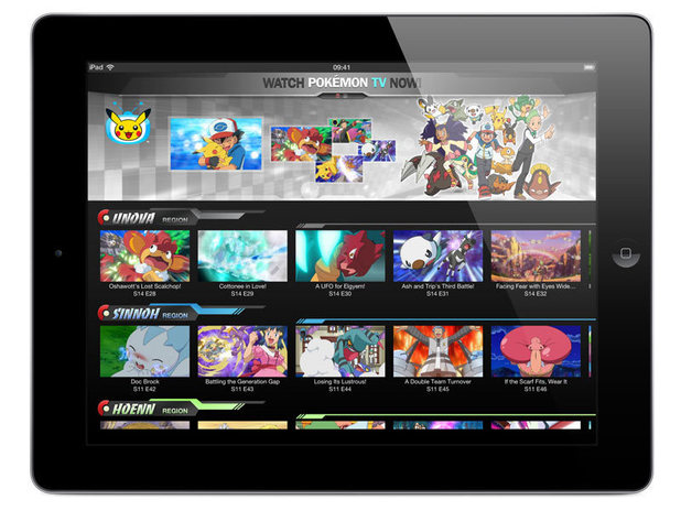 Pokemon TV app screenshots