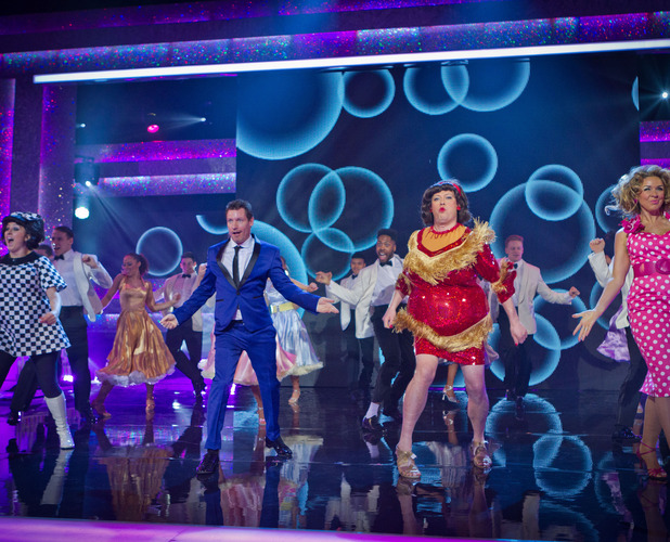 The Soap Stars (Natalie Cassidy, Ricky Groves, Claire Sweeney and Dean Gaffney) on Let's Dance For Comic Relief.