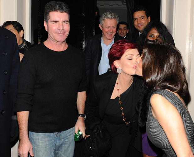 Simon Cowell, Louis Walsh and Sharon Osbourne enjoy a night out together at The Arts Club. Also in attendance were Simon's friends Sinitta and Mezhgan HussainyFeaturing: Sharon Osbourne,Simon Cowell,Louis Walsh,Sinitta,Mezhgan Hussainy Where: London, United Kingdom When: 16 Feb 2013 Credit: WENN.com