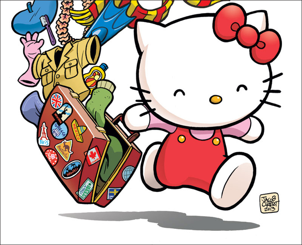 'Hello Kitty' graphic novel cover artwork
