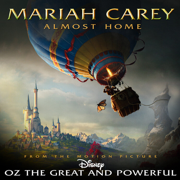 Artwork for Mariah Carey's 'Almost Home', part of the soundtrack to Disney's Oz the Great and Powerful
