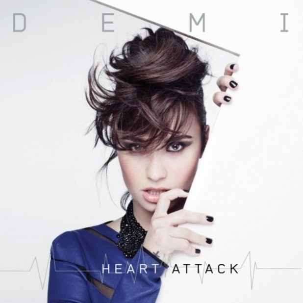 Demi Lovato &#39;Heart Attack&#39; single artwork.