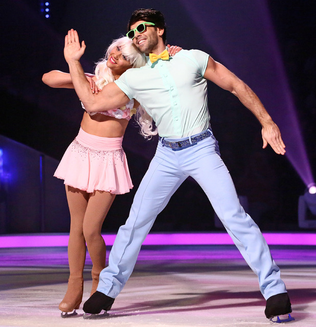 Dancing on Ice: Samia Ghadie and Sylvain Longchambon.