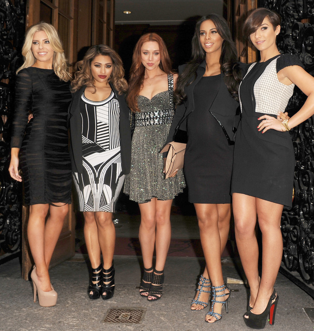 The Saturdays at London Fashion Week.
