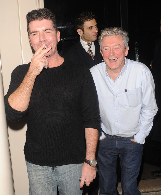 Simon Cowell and Louis Walsh enjoy a night out together at The Arts Club.