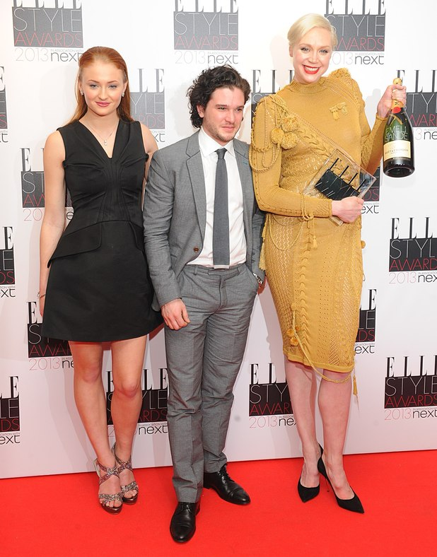 Sophie Turner, Gwendoline Christie and Kit Harington