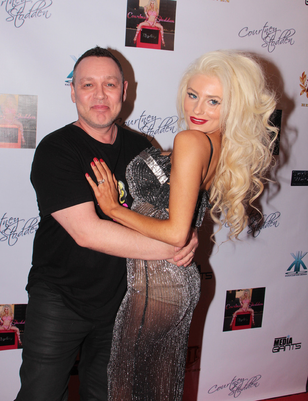 "Courtney Stodden celebrates the premiere of her new music video ""REALITY"" at Eleven NightClub Featuring: Courtney Stodden,Doug Hutchison Where: Los Angeles, California, USA When: 10 Feb 2013 Credit: Josiah True/ WENN.com"