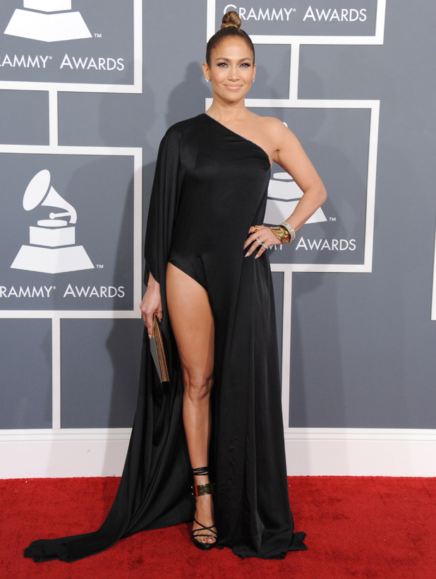 Grammy Awards 2013 red carpet: Jennifer Lopez